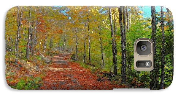 Galaxy Case featuring the digital art Autumn Walk by John Selmer Sr