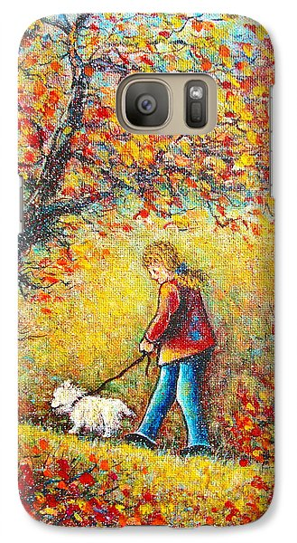 Galaxy Case featuring the painting Autumn Walk  by Natalie Holland