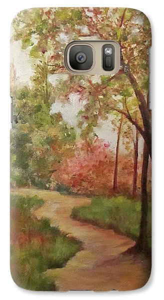 Galaxy Case featuring the painting Autumn Walk by Roseann Gilmore