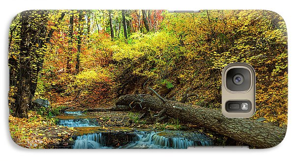 Galaxy Case featuring the photograph Autumn Waterfall by Anthony Citro