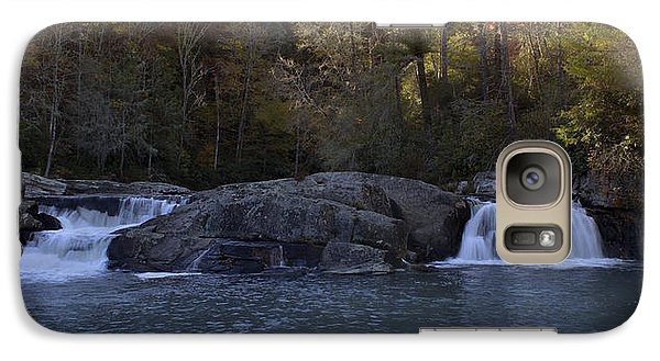 Galaxy Case featuring the photograph Autumn Waterfall  by Ellen Heaverlo