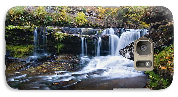 Galaxy Case featuring the photograph Autumn Waterfall by Steve Stuller