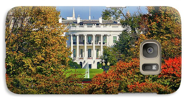 Galaxy Case featuring the photograph Autumn White House by Mitch Cat