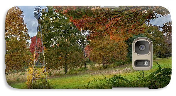 Galaxy S7 Case featuring the photograph Autumn Windmill by Bill Wakeley