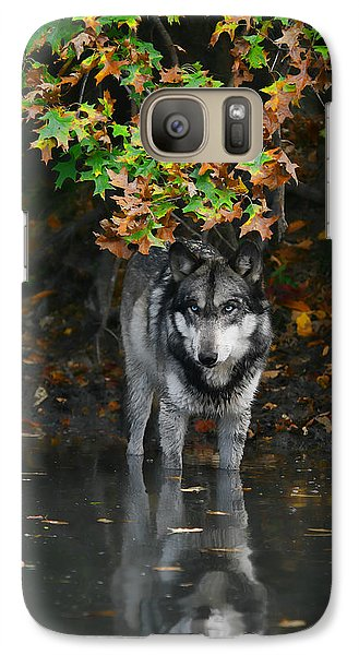 Galaxy Case featuring the photograph Autumn Wolf by Shari Jardina