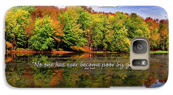 Galaxy Case featuring the photograph Autumn Wonders Giving by Diane E Berry