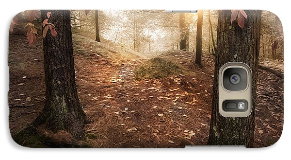 Galaxy Case featuring the photograph Autumn Woodland by Robin-Lee Vieira