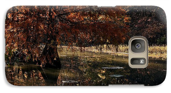 Galaxy Case featuring the photograph Autumnal Solace At Lake Murray by Tamyra Ayles