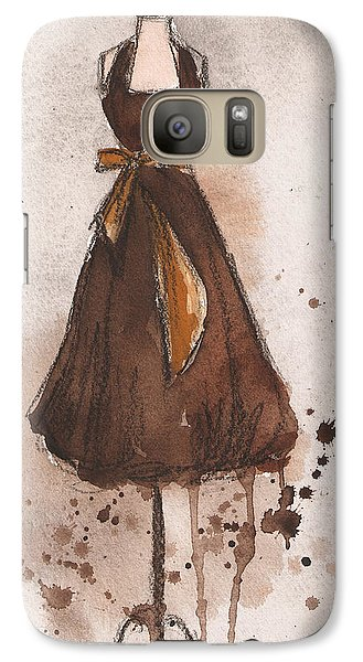 Autumn's Gold Vintage Dress Galaxy S7 Case by Lauren Maurer