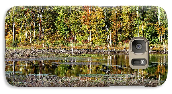 Galaxy Case featuring the photograph Autumns Quiet Moment by Karol Livote