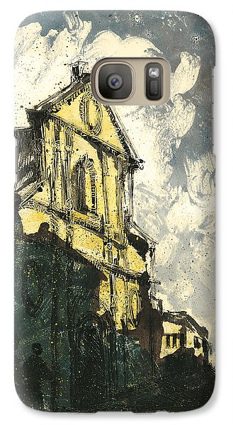 Galaxy Case featuring the painting Avignon Provence Street View by Martin Stankewitz