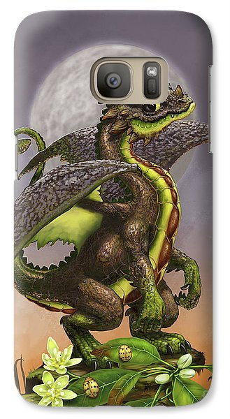 Galaxy Case featuring the digital art Avocado Dragon by Stanley Morrison
