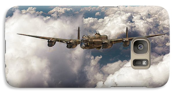 Galaxy Case featuring the photograph Avro Lancaster Above Clouds by Gary Eason