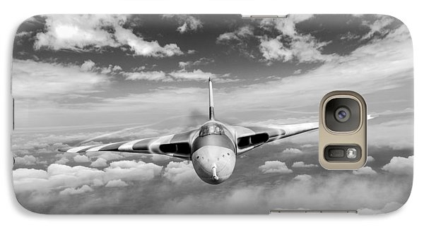 Galaxy Case featuring the digital art Avro Vulcan Head On Above Clouds by Gary Eason