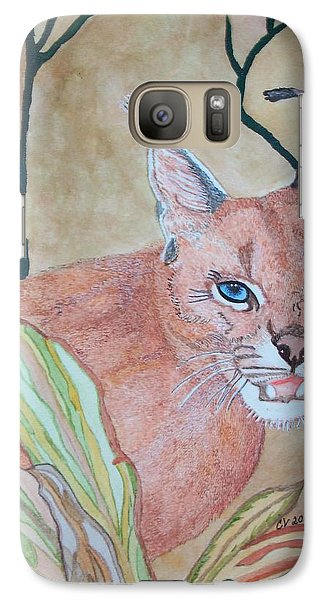Galaxy Case featuring the painting Awaiting Your  Mistake by Connie Valasco