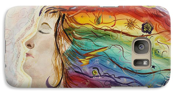 Galaxy Case featuring the painting Awakening Consciousness by Donna Walsh
