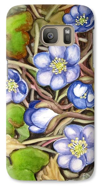 Galaxy Case featuring the painting Awakening Of The Wild Anemone  by Inese Poga