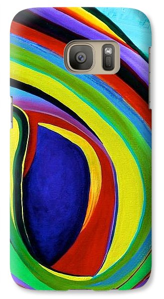 Galaxy Case featuring the painting Awakening by Polly Castor