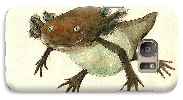 Axolotl Galaxy S7 Case by Juan Bosco