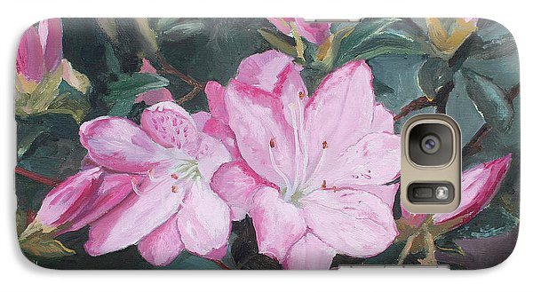 Galaxy Case featuring the painting Azalea by Rachel Hames