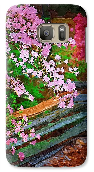 Galaxy Case featuring the photograph Azaleas Over The Fence by Donna Bentley