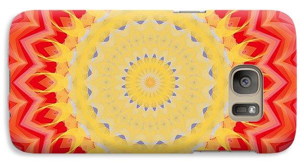 Galaxy Case featuring the digital art Aztec Sunburst by Roxy Riou