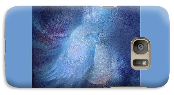 Galaxy Case featuring the painting Azure by Ragen Mendenhall