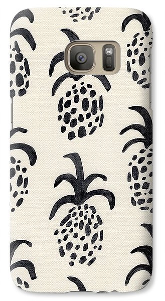 B And W Pineapple Print Galaxy Case by Anne Seay
