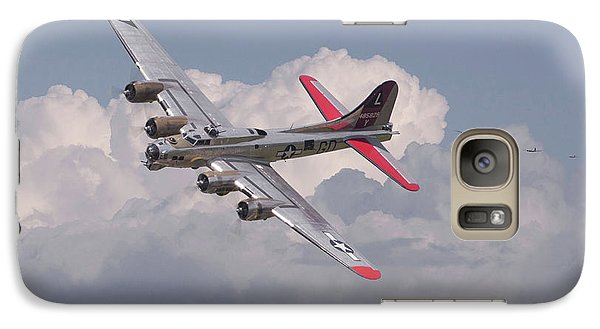Galaxy Case featuring the photograph B17 - The Last Lap by Pat Speirs