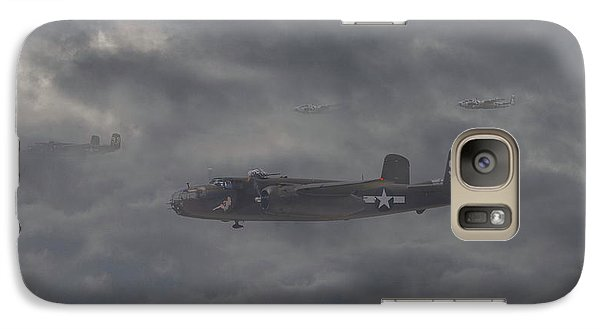 Galaxy Case featuring the digital art B25 - 12th Usaaf by Pat Speirs