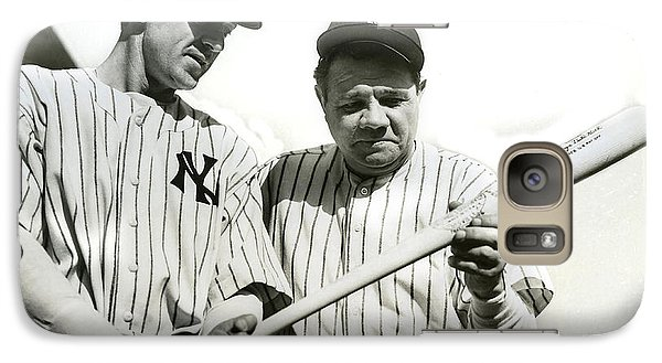 Babe Ruth And Lou Gehrig Galaxy S7 Case