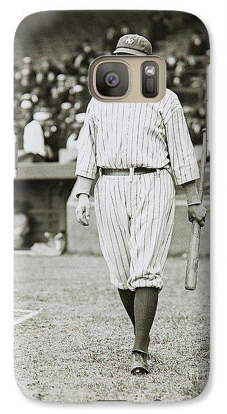 Babe Ruth Going To Bat Galaxy S7 Case by Jon Neidert