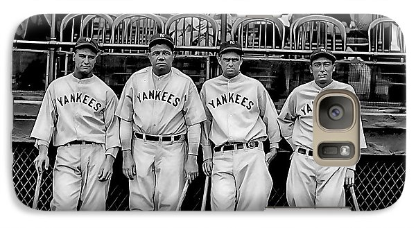 Babe Ruth Lou Gehrig And Joe Dimaggio Galaxy Case by Marvin Blaine
