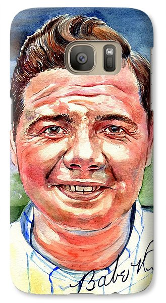 Mickey Mantle Galaxy S7 Case - Babe Ruth Portrait by Suzann's Art