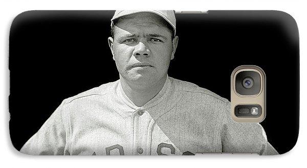 Babe Ruth Red Sox Galaxy S7 Case by Jon Neidert