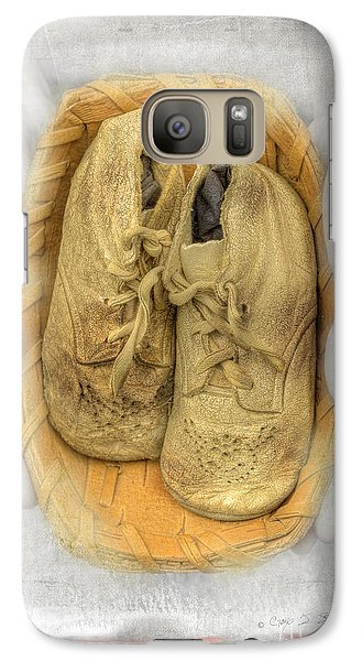 Galaxy Case featuring the photograph Baby Basket Shoes by Craig J Satterlee