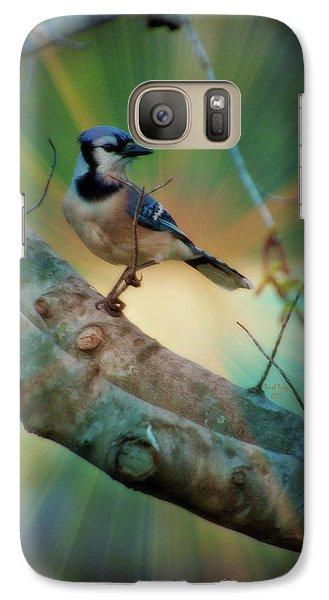 Baby Blue Galaxy S7 Case by Trish Tritz
