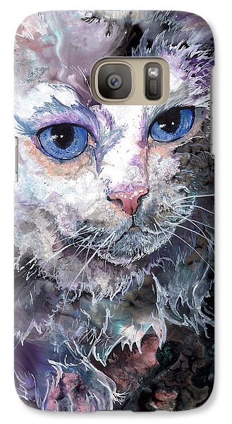 Galaxy Case featuring the painting Baby Blues by Sherry Shipley