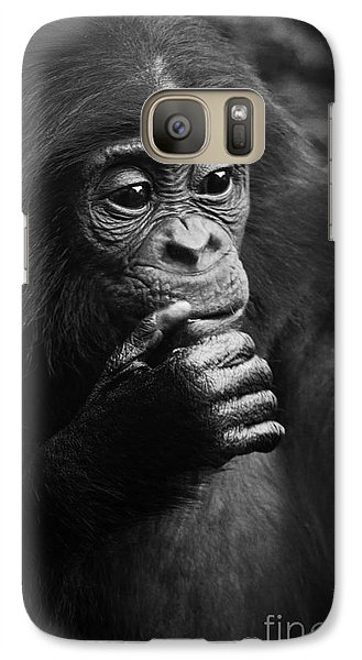 Galaxy Case featuring the photograph Baby Bonobo by Helga Koehrer-Wagner
