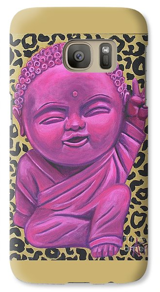 Galaxy Case featuring the painting Baby Buddha 2 by Ashley Price