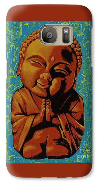 Galaxy Case featuring the painting Baby Buddha by Ashley Price