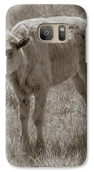 Galaxy Case featuring the photograph Baby Buffalo by Rebecca Margraf