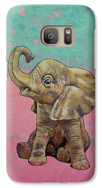 Elephant Galaxy S7 Case - Baby Elephant by Michael Creese