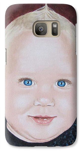 Galaxy Case featuring the painting Baby by Jeepee Aero