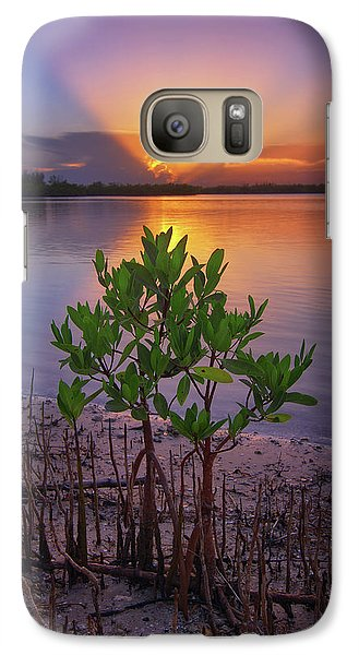 Galaxy Case featuring the photograph Baby Mangrove Sunset At Indian River State Park by Justin Kelefas