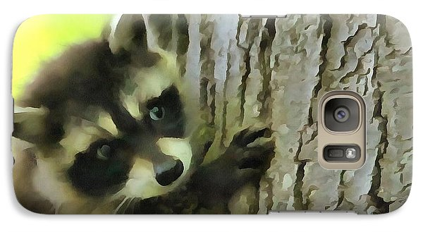 Baby Raccoon In A Tree Galaxy Case by Dan Sproul