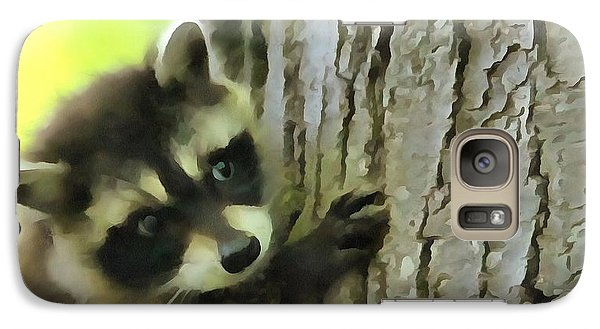 Baby Raccoon In A Tree Galaxy S7 Case