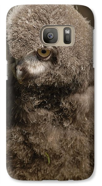 Galaxy Case featuring the photograph Baby Snowy Owl by JT Lewis