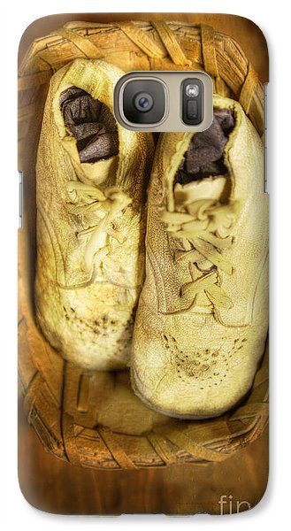Galaxy Case featuring the photograph Baby White Shoes by Craig J Satterlee