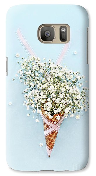 Galaxy Case featuring the photograph Baby's Breath Ice Cream Cone by Stephanie Frey